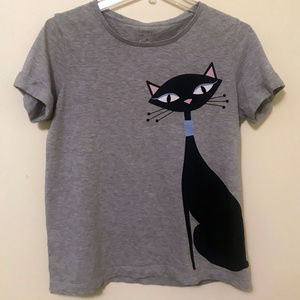 "Kate Spade Broome Street ""Cool Cat"" T-Shirt S"